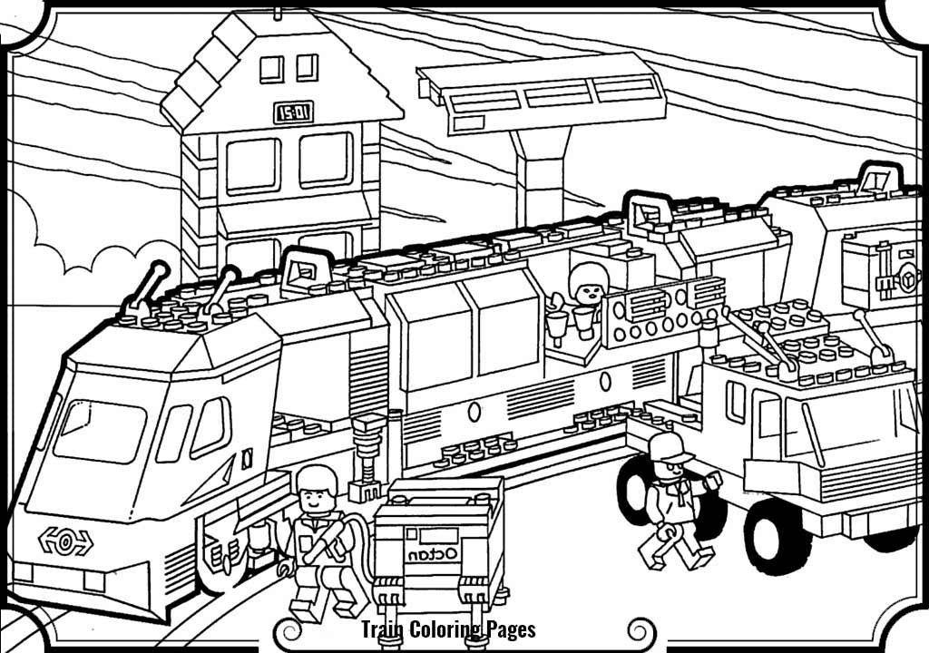 1024x720 Lego Train Coloring Pages Train Station Clipart Coloring
