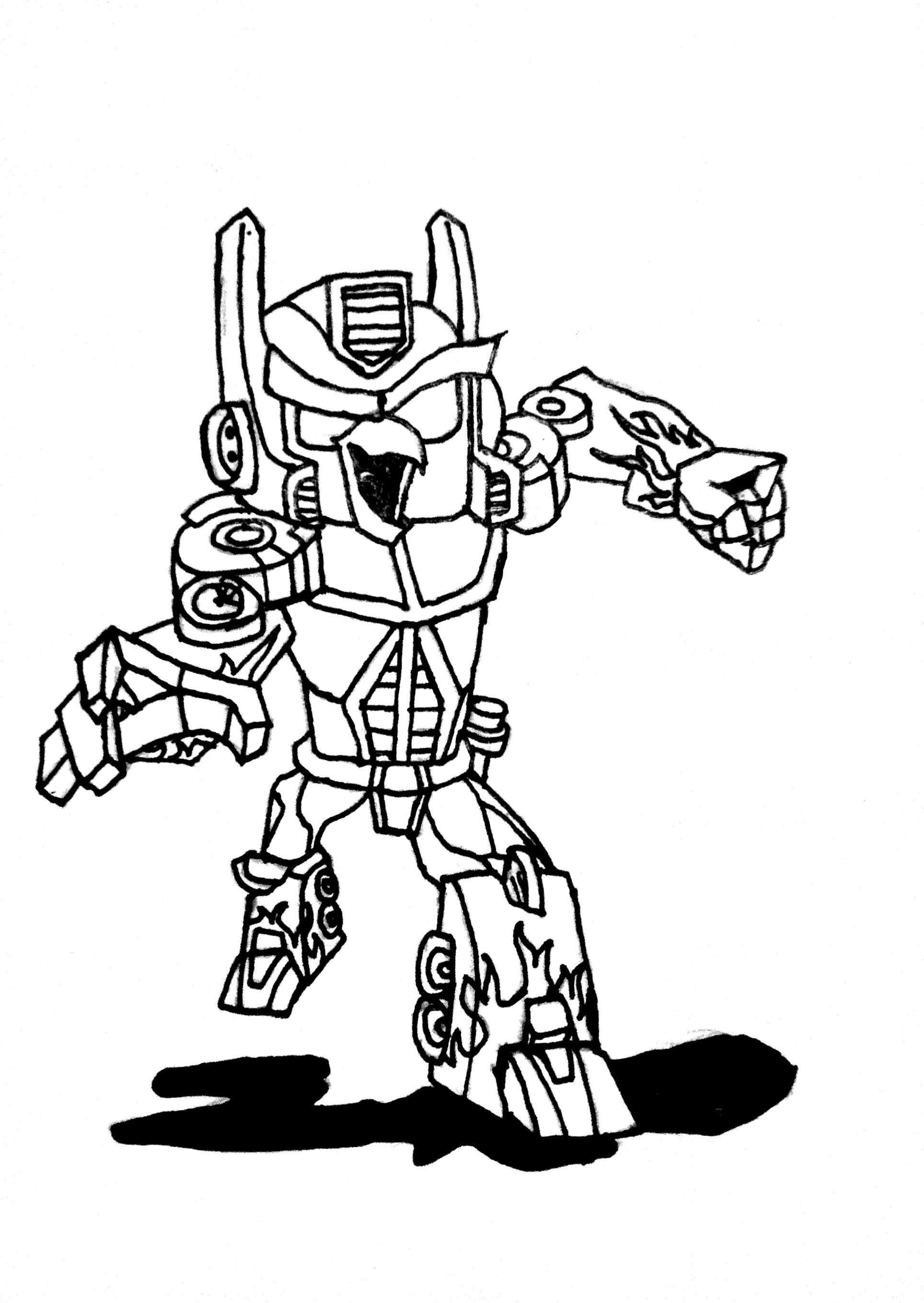 Lego Transformers Coloring Pages At Getdrawings Com Free