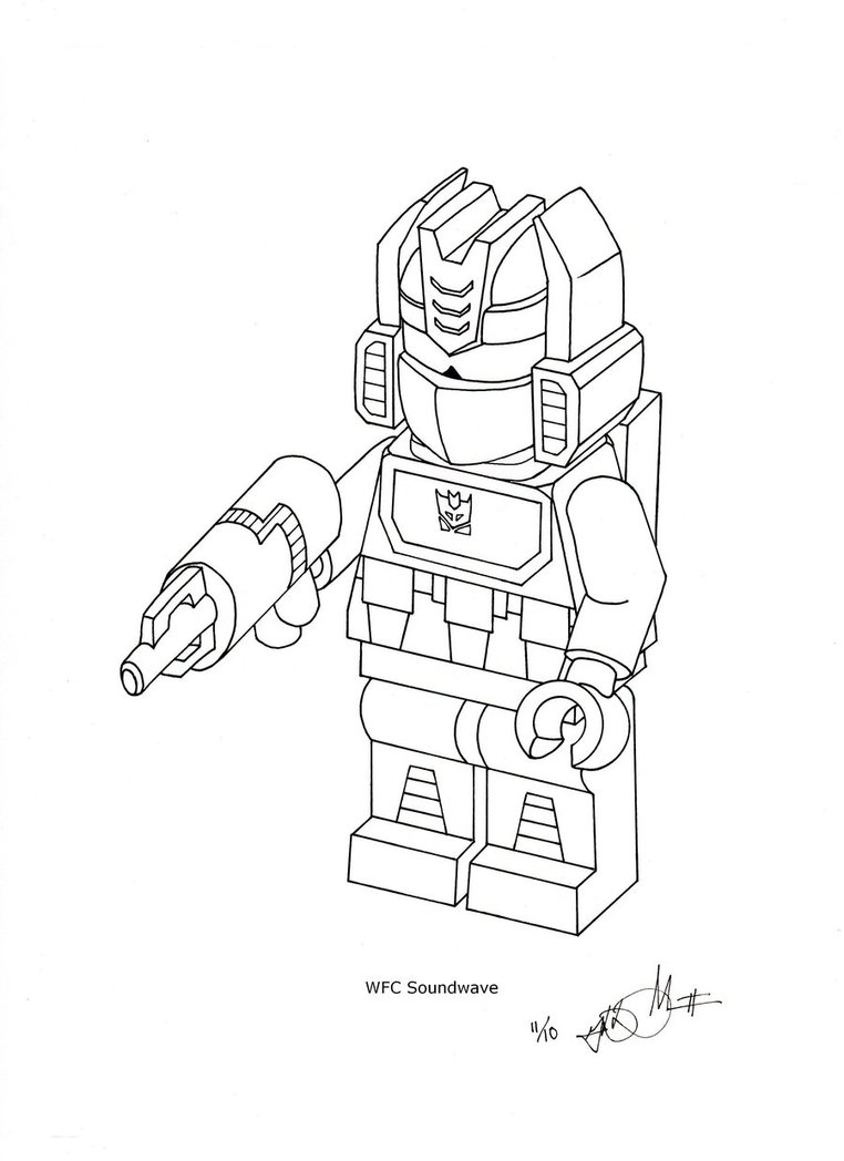Lego Transformers Coloring Pages At Getdrawingscom Free For