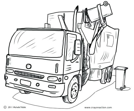 521x432 Garbage Truck Coloring Page Main Image For The Garbage Truck