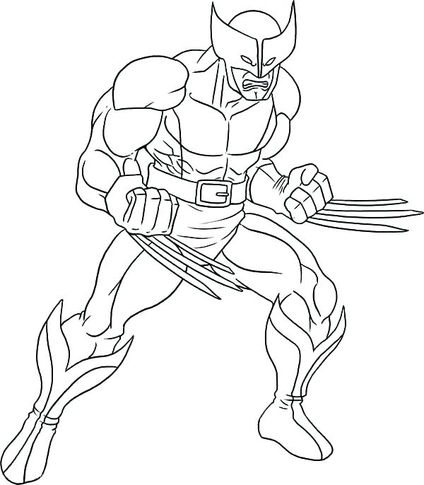 600x686 Wolverine Coloring And Wolverine Coloring Pages Item Wolverine