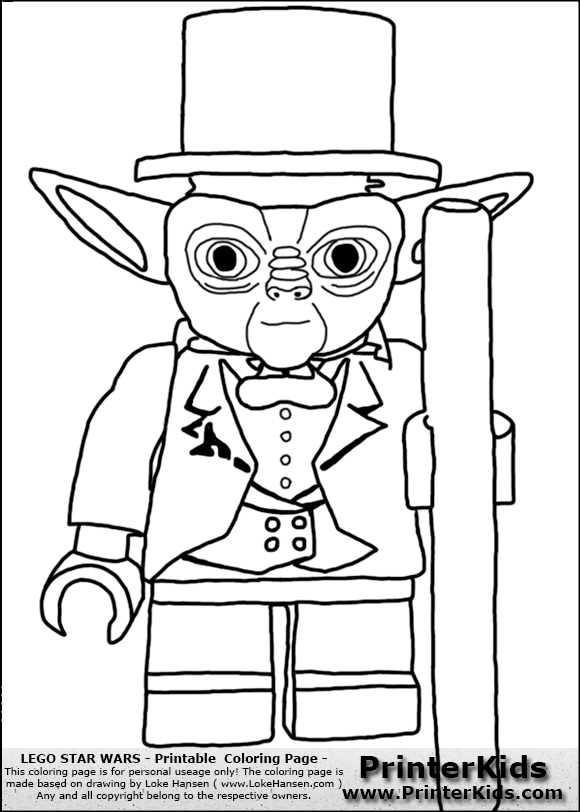 Lego Yoda Coloring Pages At Getdrawings Com Free For Personal Use