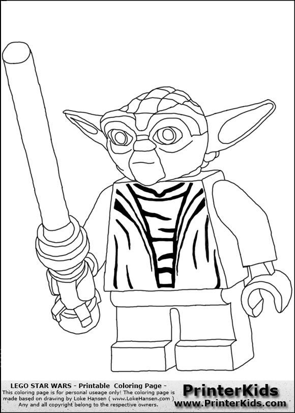 Lego Yoda Coloring Pages_