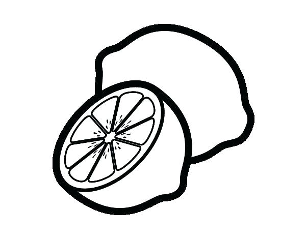 600x470 Lemon Coloring Page Coloring Pages Lemon Page Source For Kids