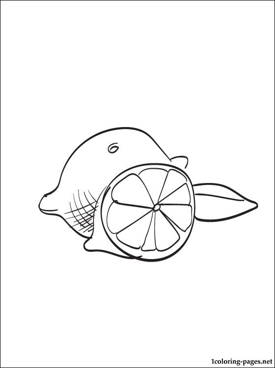 560x750 Lemon Coloring Page Coloring Pages