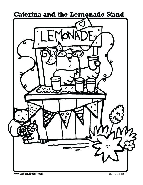 600x776 Lemonade Coloring Page Lemonade Coloring Page Lemonade Coloring