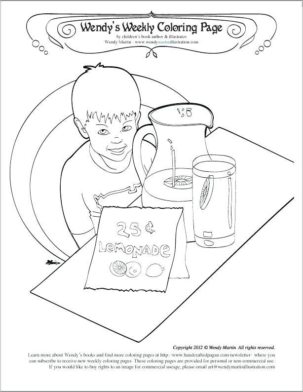 614x794 Lemonade Stand Coloring Lemonade Glass Coloring Pages Lemonade