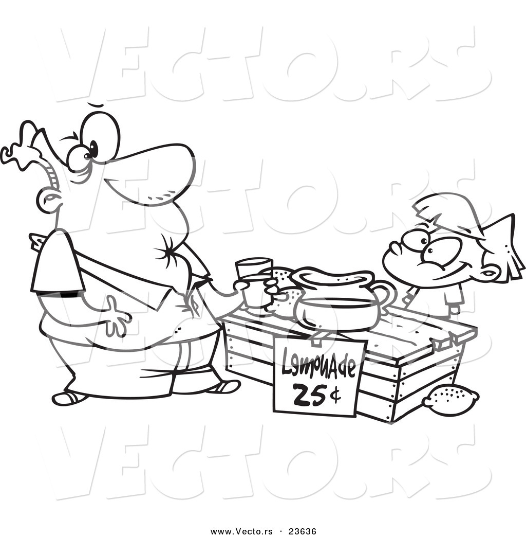 1024x1044 Lemonade Stand Coloring Pages