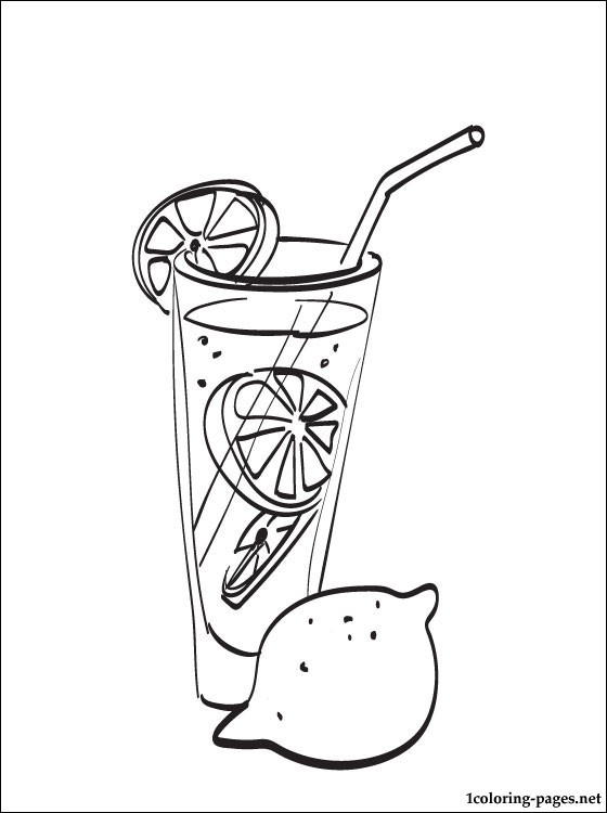 560x750 Lemonade Coloring Page Coloring Pages