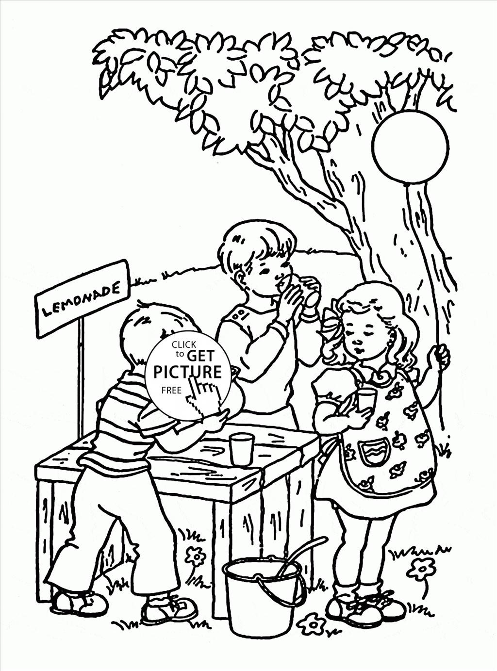 1024x1383 New Lemonade Stand Coloring Pages Gallery Free Coloring Pages