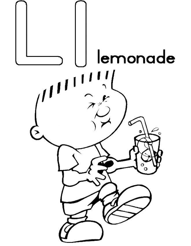 660x848 L For Lemonade Coloring Pages Kids Coloring Pages
