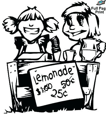 369x400 Lemonade Coloring Page Lemonade In A Jar Coloring Page For Adults