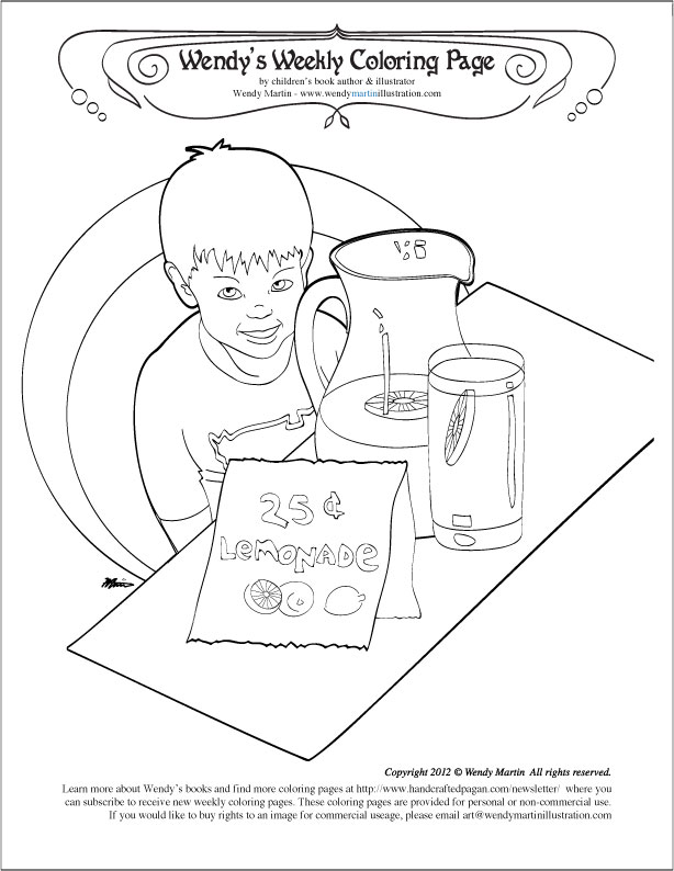 614x794 Lemonade Stand Coloring Pages