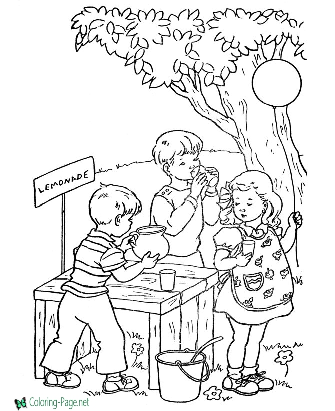 670x820 Coloring Pages Lemonade Stand