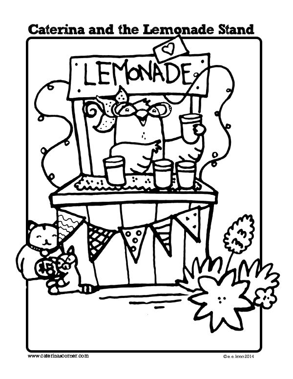 600x776 Free Coloring Page From Picture Book, Caterina And The Lemonade