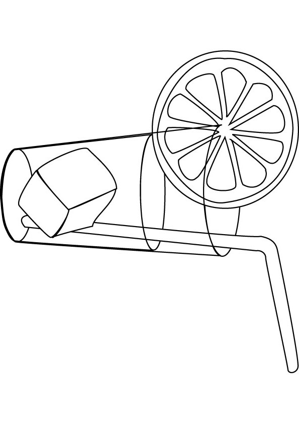 595x842 Free Lemonade Coloring Page