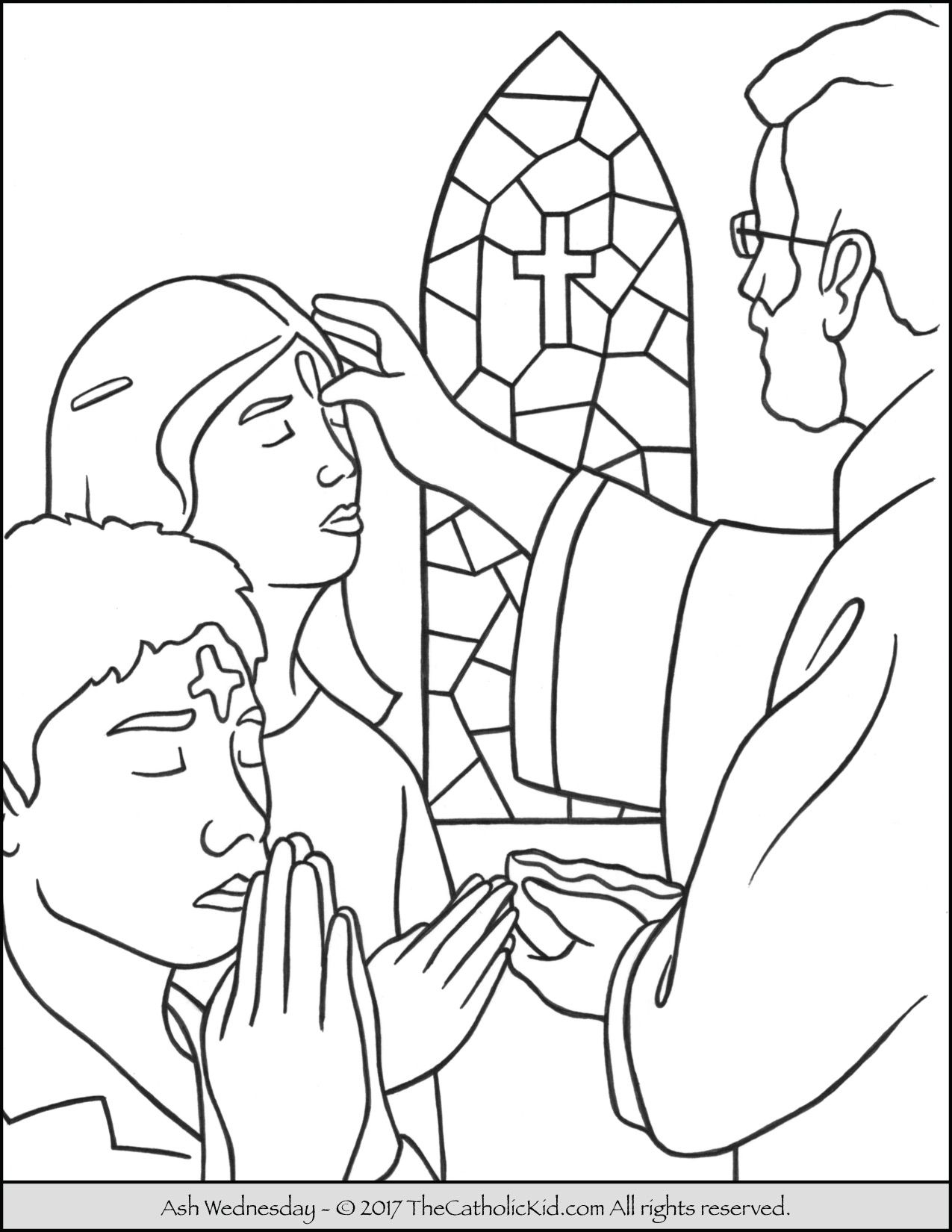 1275x1650 Ash Wednesday Coloring Page Catholic Coloring Pages For Kids