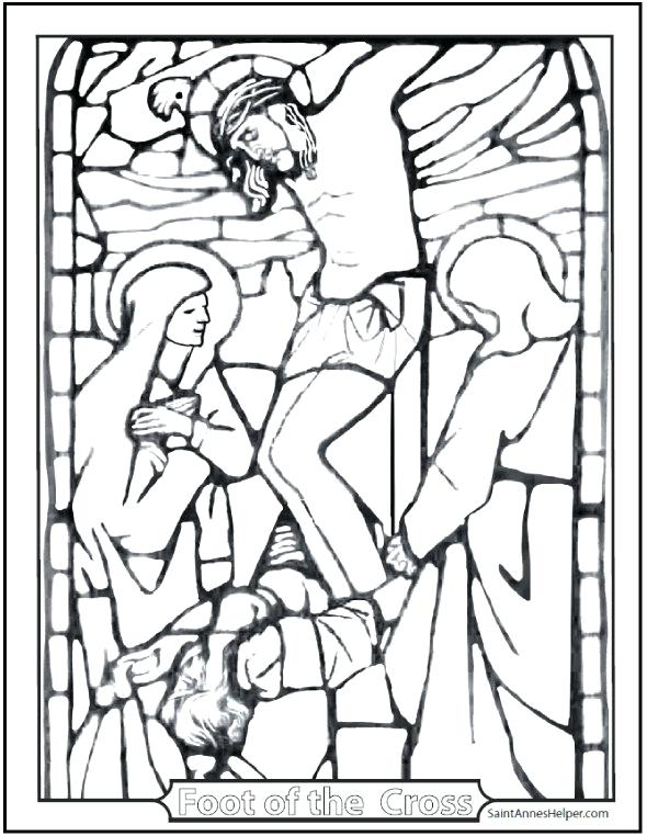 590x762 Lent Coloring Page Crucifixion Of Lent Coloring Page Catholic