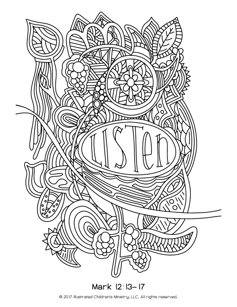 791x1024 Lenten Coloring Sheets