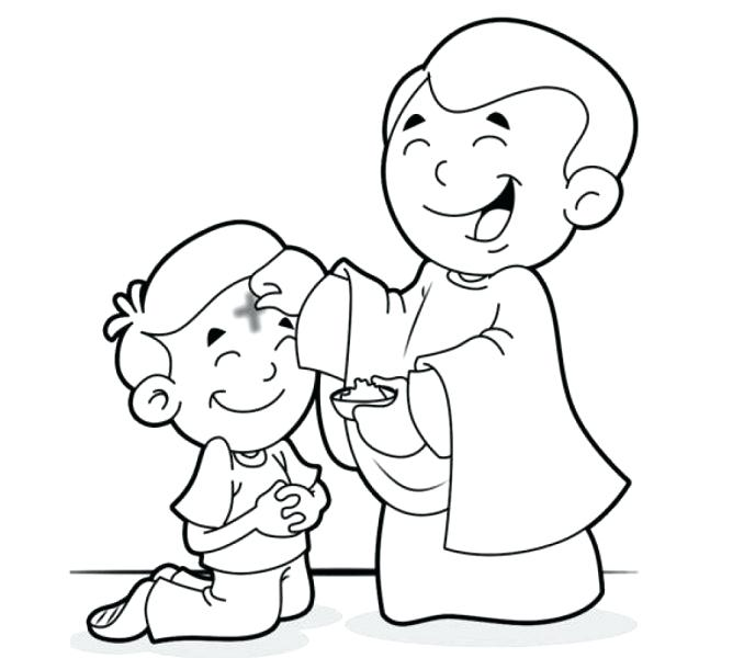 678x600 Lent Ash Wednesday Coloring Pages Printable Coloring Ash Coloring