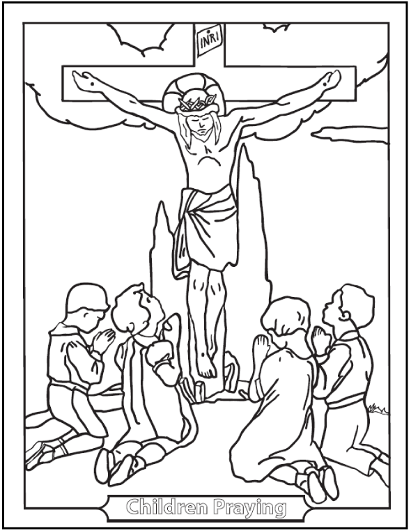 590x762 Free Printable Lent Coloring Pages