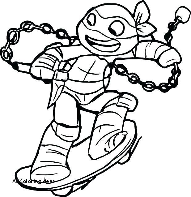 618x637 Ninja Turtle Coloring Pages Excellent Ninja Turtle Coloring Page