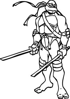 236x332 Teenage Mutant Ninja Turtle Leonardo Coloring Pages
