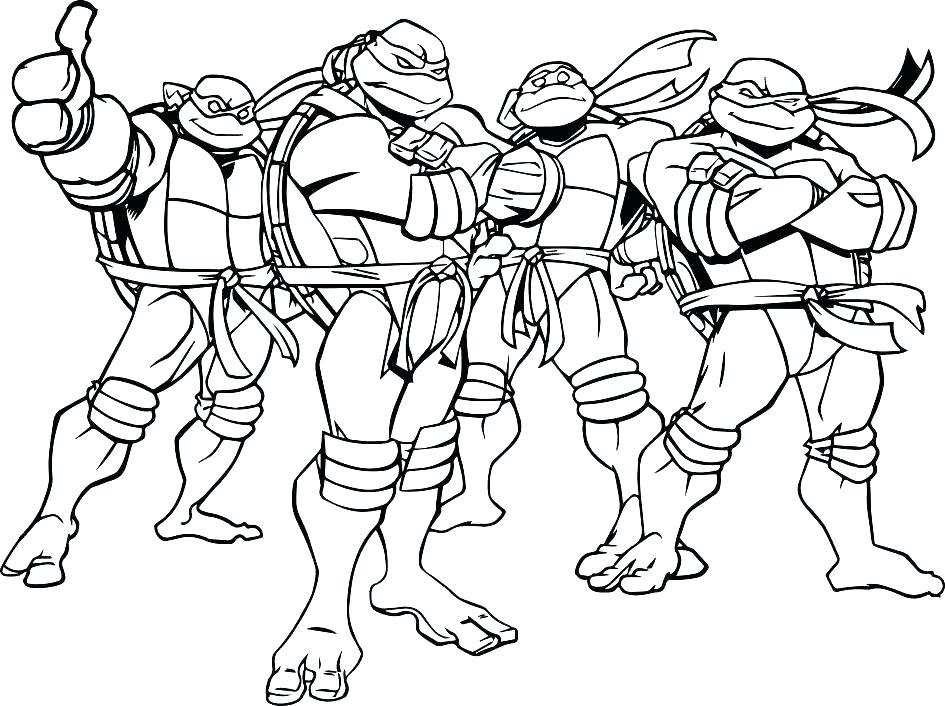 945x706 Teenage Mutant Ninja Turtles Coloring Pages Nickelodeon Teenage
