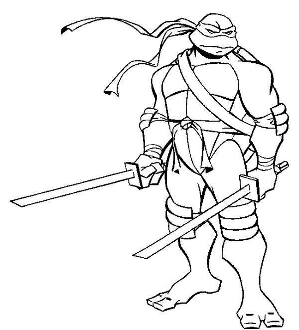 600x662 Teenage Mutant Ninja Turtles Leonardo Drawing