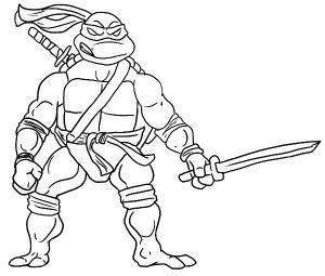 300x255 Katana Blades Is Leonardo Weapon Of Choice Coloring Page