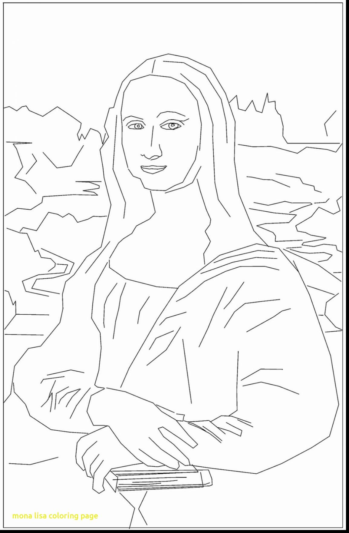 1153x1760 Mona Lisa Coloring Page With Mona Lisa Coloring Page La Gioconda