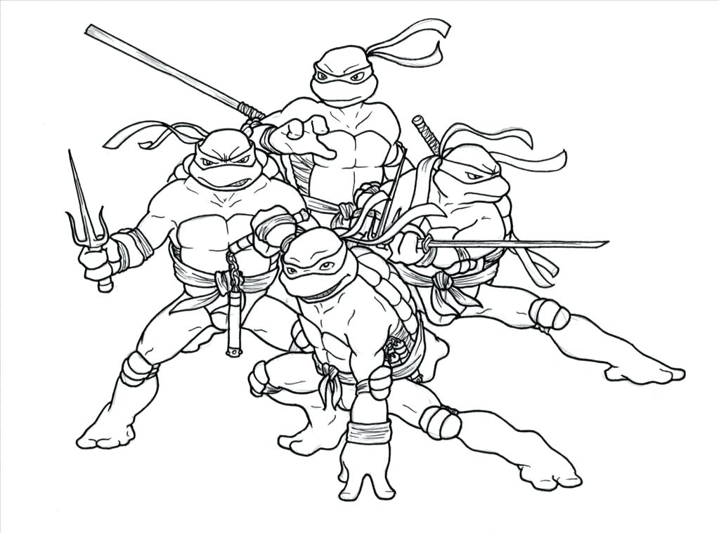 1023x759 Ninja Turtles Coloring Page Ideal Teenage Mutant Ninja Turtle