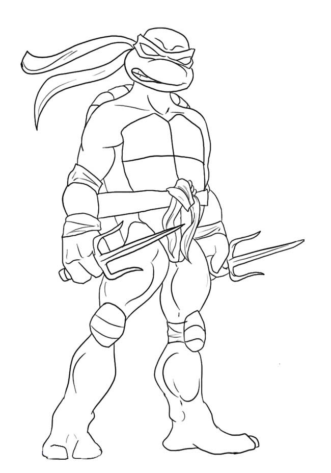 650x927 Ninja Turtles Coloring Pages Leonardo Ninja Turtle Coloring Page
