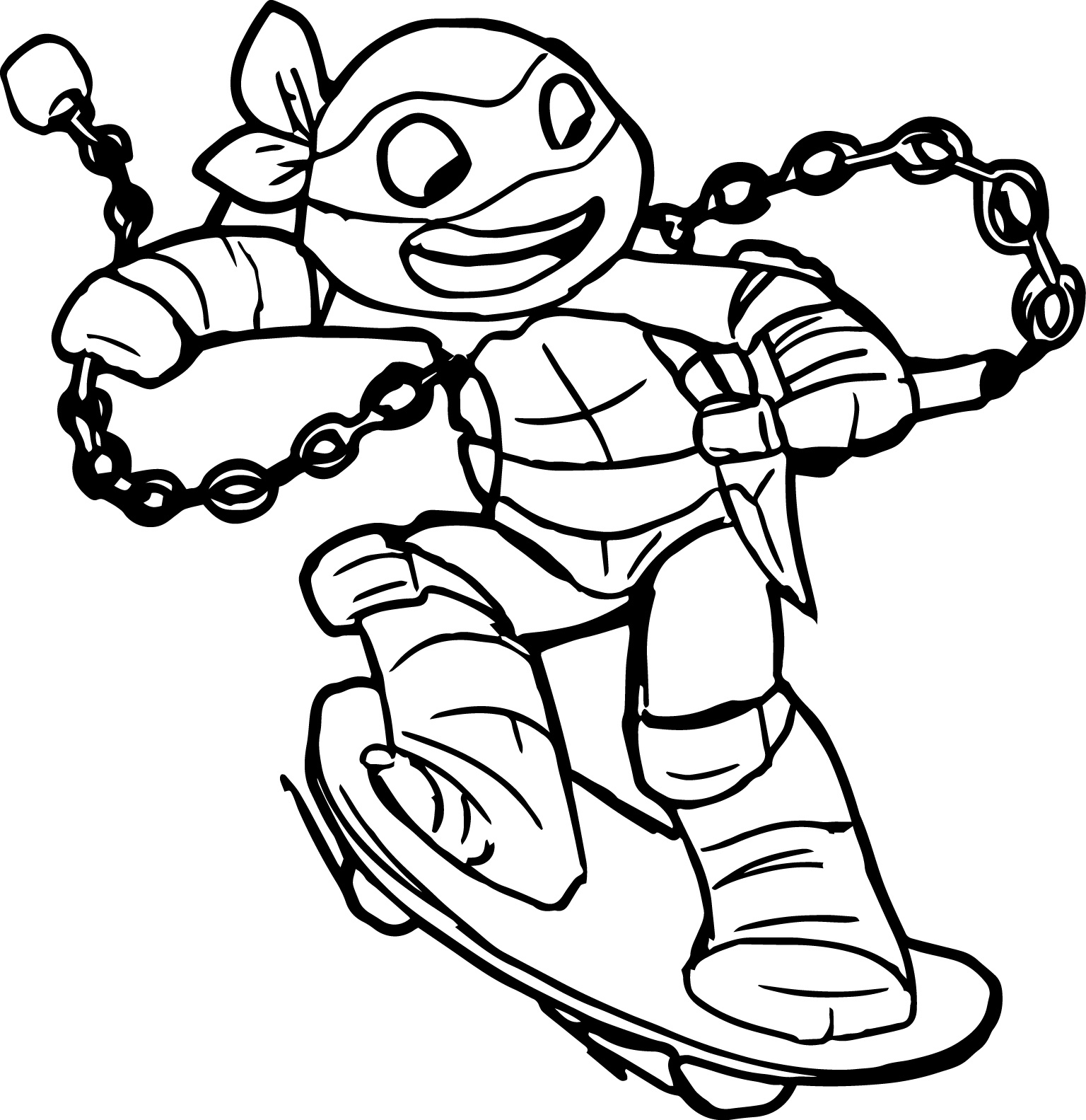 1536x1583 Simple Teenage Mutant Ninja Turtles Free Coloring Pages Teenage