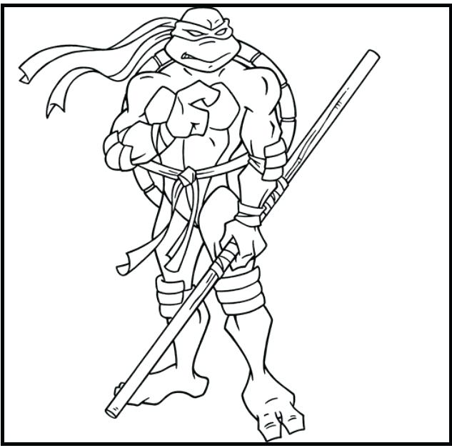 633x627 Colorear Tmnt Leonardo Teenage Mutant Ninja Turtles Coloring Page