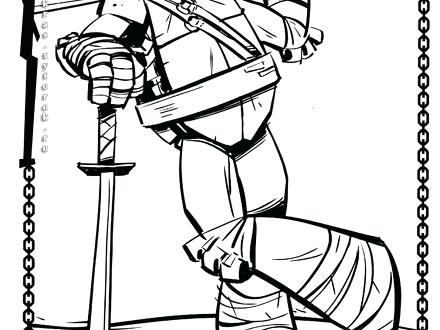 440x330 Teenage Mutant Ninja Turtles Leonardo Coloring Pages Printable