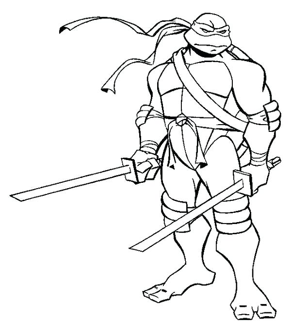 600x662 Printable Ninja Turtle Coloring Pages