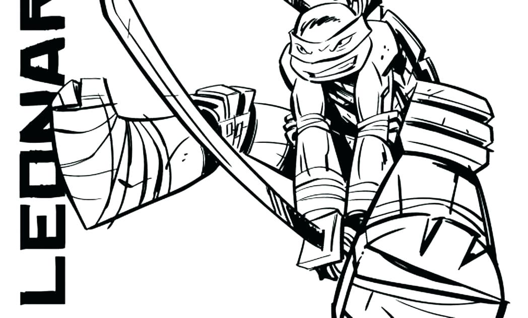 1048x632 Teenage Mutant Ninja Turtles Coloring Pages Leonardo