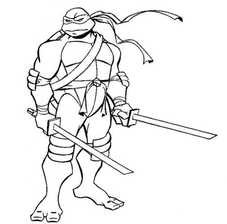 730x721 Free Leonardo Ninja Turtles Coloring Page Superheroes Coloring