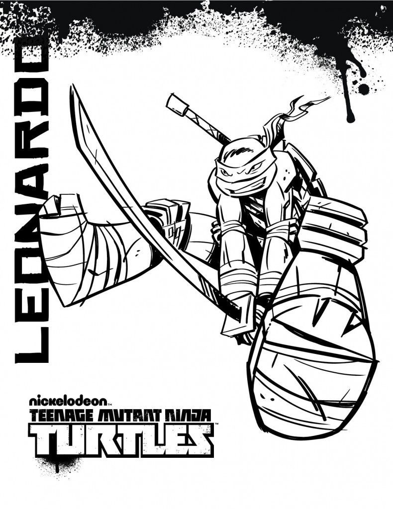 790x1024 Leonardo Teenage Mutant Ninja Turtles Coloring Pages