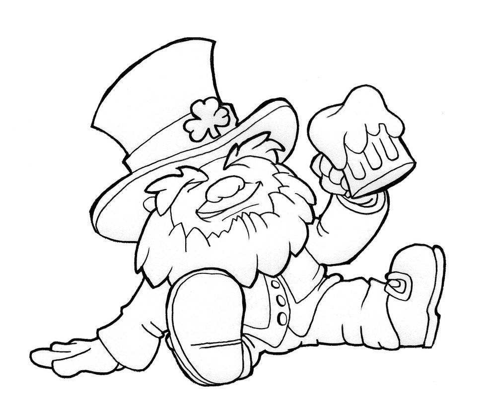 991x806 Leprechaun Coloring Pages