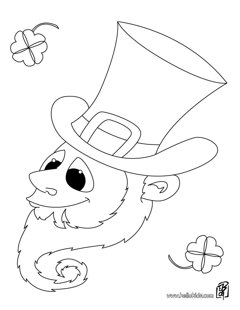 820x1060 Leprechaun Hat And Rainbow Coloring Pages