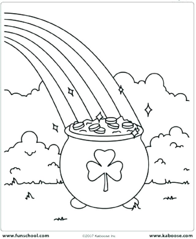 640x780 Rainbow And Pot Gold Coloring Pages Leprechaun Rainbow Pot