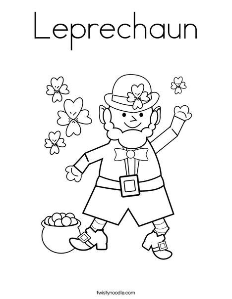 468x605 Leprechaun Coloring Page