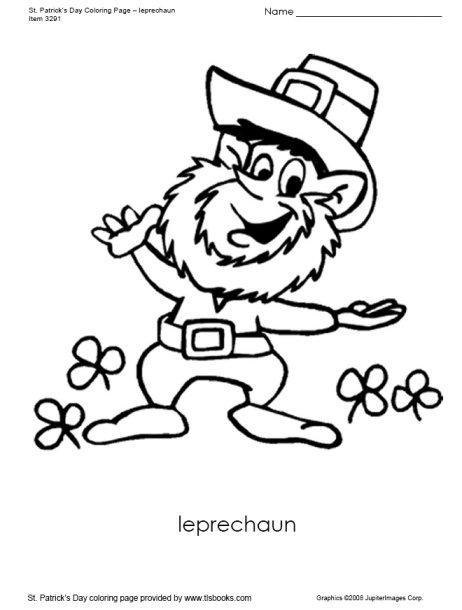 462x610 Leprechaun Coloring Page