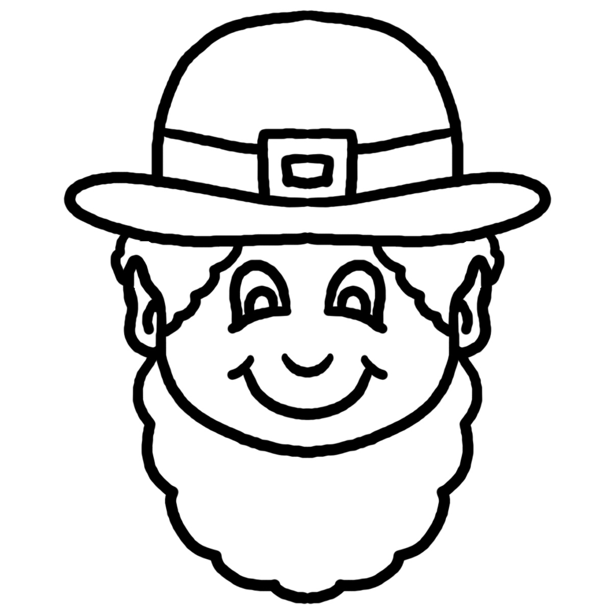 1200x1200 Project Ideas Leprechaun Coloring Pages Printable To Print