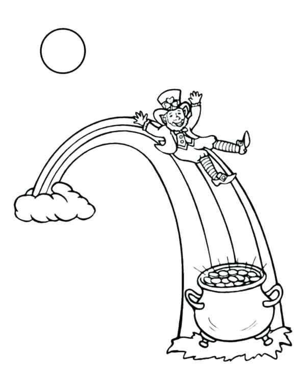 600x734 Rainbow Coloring Pages Small Leprechaun Coloring Sheet Here Are