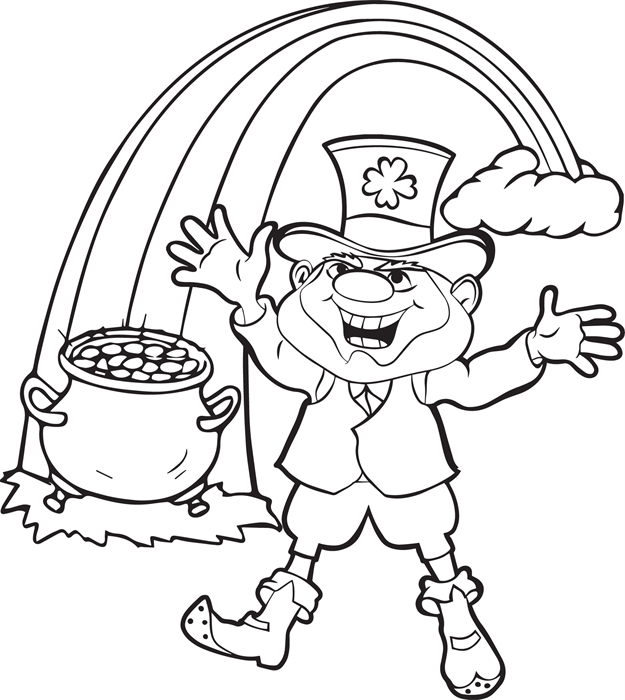 625x700 Free Printable Leprechaun Coloring Pages