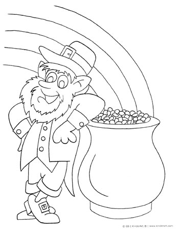 350x460 Free St Patrick's Day Spring Coloring Pages To Print