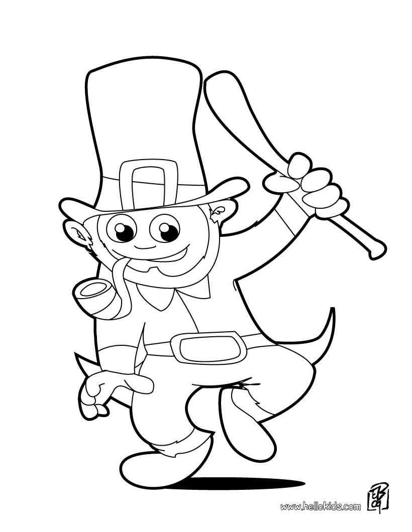820x1060 Happy Leprechaun Coloring Pages
